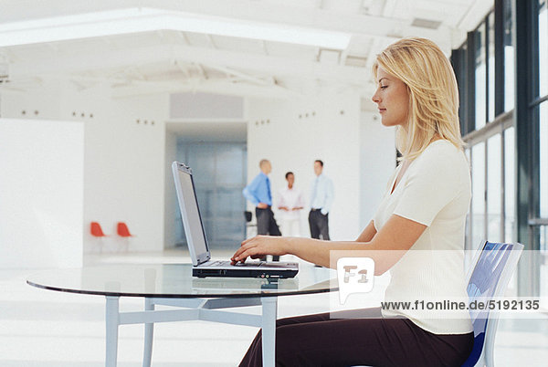 Geschäftsfrau  Notebook  arbeiten