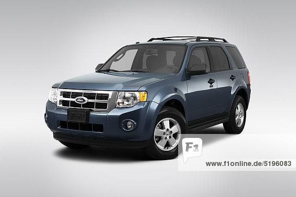 frontal blau Ansicht Flachwinkelansicht Winkel Flucht Ford