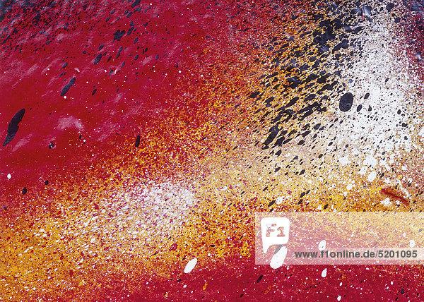 Graffiti in Airbrushtechnik  Detail  rot-gelb