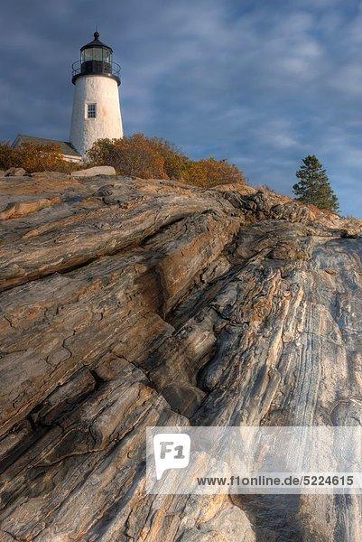 Vereinigte Staaten von Amerika  USA  Felsbrocken  Anordnung  Leuchtturm  hocken - Tier  zeigen  Phantasie  Bristol  Maine