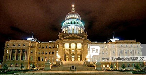 Nacht  Gebäude  Großstadt  Beleuchtung  Licht  Süden  Boise  Innenstadt  Idaho