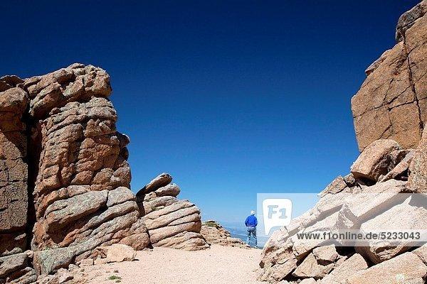 nahe  Berggipfel  Gipfel  Spitze  Spitzen  folgen  wandern  Hecht  Esox lucius
