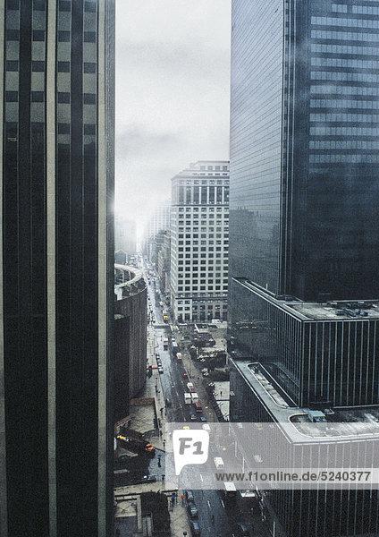 New York  Manhattan  Straßenschlucht New York, Manhattan, Straßenschlucht