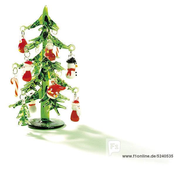 Kleiner Weihnachtsbaum aus Glas