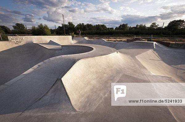 Belgium  Mechelen  View of public skatepark
