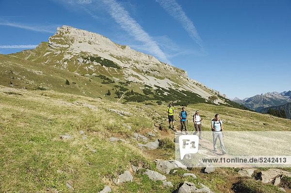 Österreich  Kleinwalsertal  Bergwandergruppe