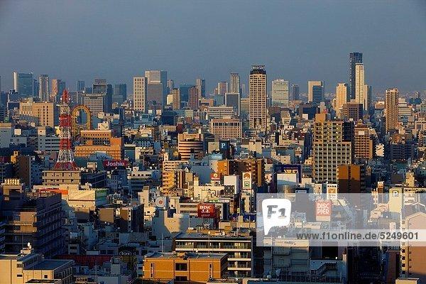 Großstadt  Turm  Nachbarschaft  Ansicht  Asien  Innenstadt  Japan  Osaka