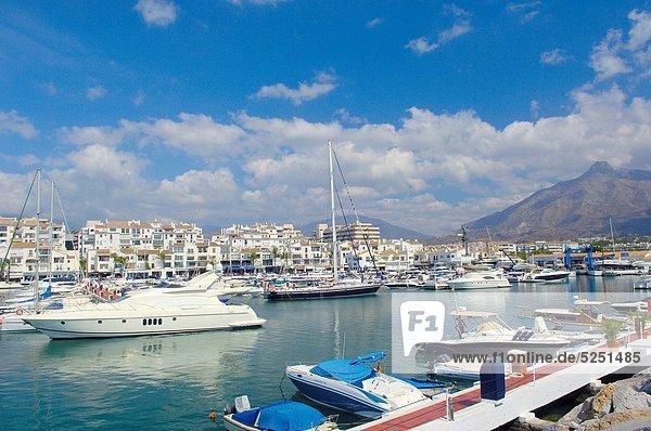 Hafen Yacht Reichtum Andalusien Marbella Spanien