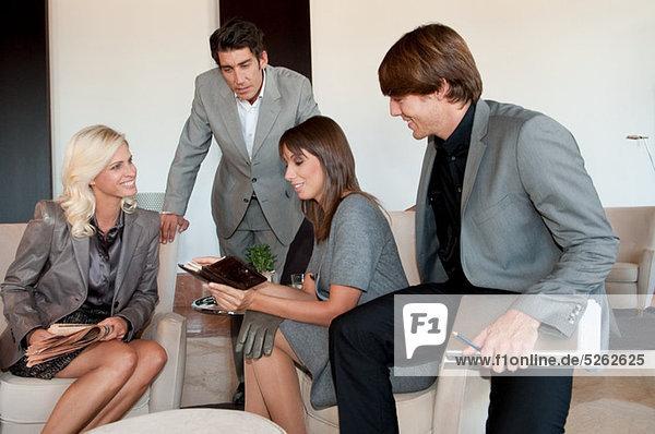 Firmen mit informelles Treffen