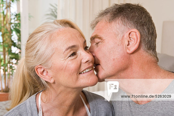 Intime mature couple