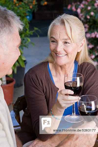 Rotwein reifer Erwachsene reife Erwachsene