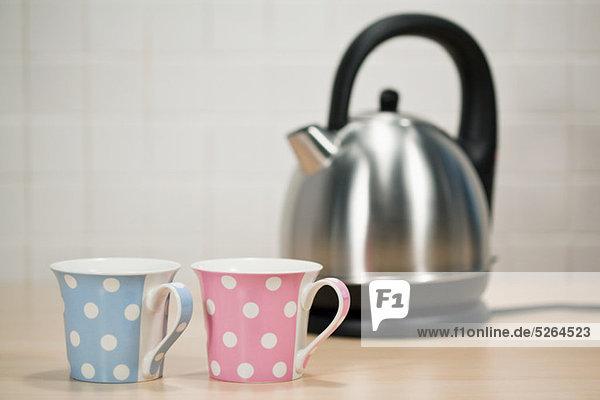 Wasserkocher und Tee