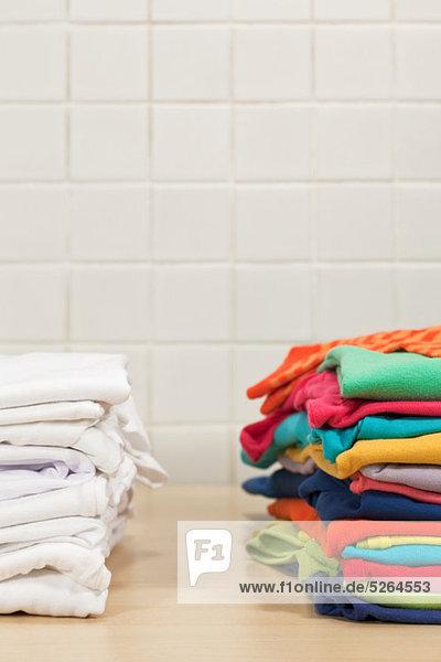Haufenweise saubere Wäsche