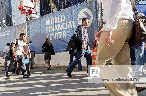 Vereinigte Staaten von Amerika  USA  New York City  ground zero  Innenstadt  Manhattan  World Trade Center