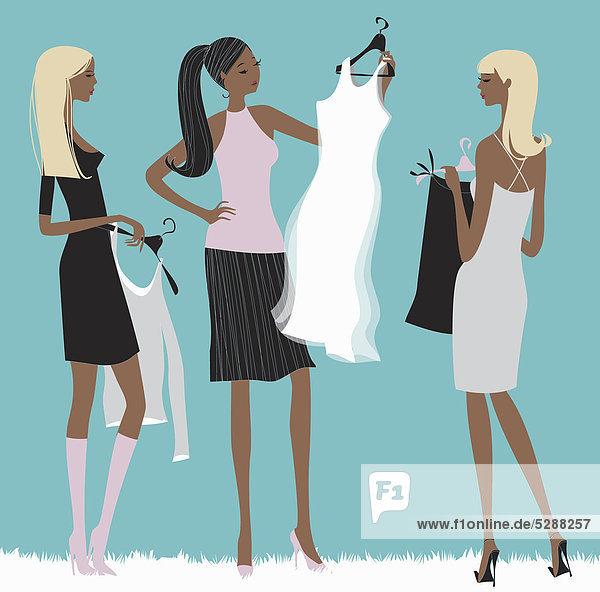 Frauen shoppen zusammen Frauen shoppen zusammen
