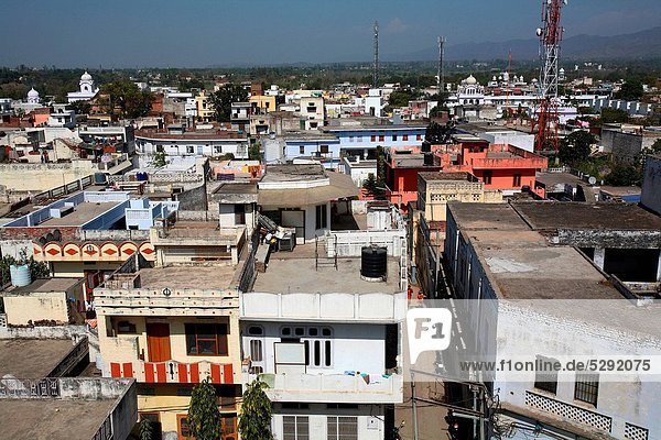 Aerial view of city situated in Rupnagar district in Punjab   India