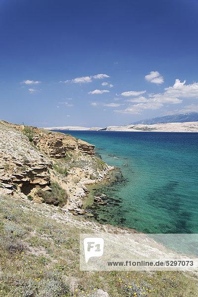 K¸stenlandschaft  Insel Pag  Zadar  Kroatien  Dalmatien  Europa