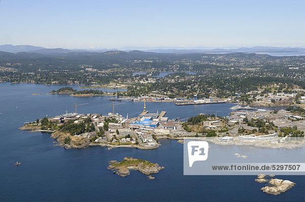 Luftaufnahme  Hafen von Esquimalt  Vancouver Island  British Columbia  Kanada