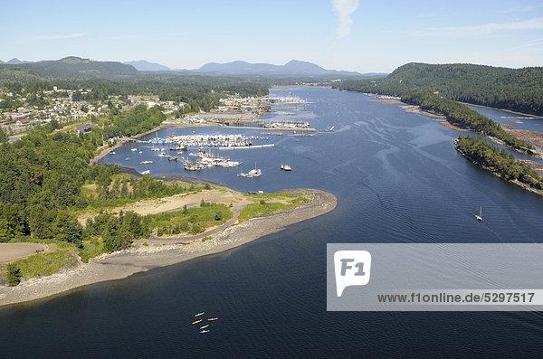 Luftaufnahme  Hafen von Ladysmith  Vancouver Island  British Columbia  Kanada