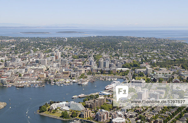 Luftaufnahme  Hafen von Victoria  Victoria  Vancouver Island  British Columbia  Kanada
