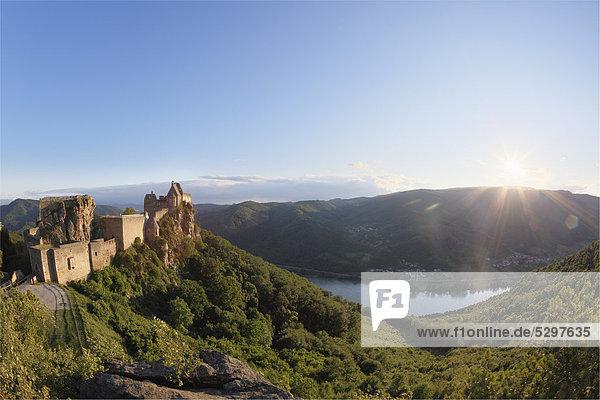 Burgruine Aggstein castle ruins  Wachau  Lower Austria  Austria  Europe