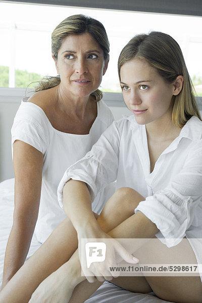 Mutter und Tochter  Porträt