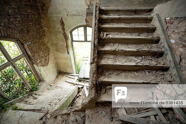 Luik / Liege  Belgium. Abandoned military fort and barracks 'Fort la Chartreuse'  which has been used between the 19th century and World War 2.