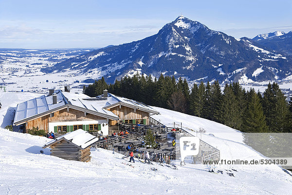 Europa Hütte Allgäu Bayern Deutschland