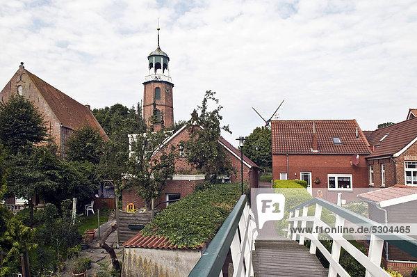 Form Formen Europa Leuchtturm Jahrhundert Strömung Ostfriesland Deutschland Niedersachsen
