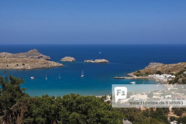 Europa Griechenland Lindos Rhodos