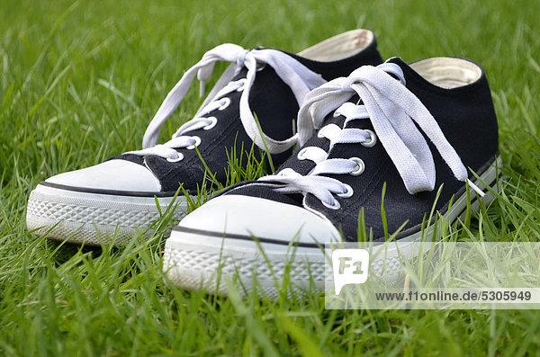 Chuck Taylor All Stars oder Chucks Turnschuhe im Gras Chuck Taylor All Stars oder Chucks Turnschuhe im Gras