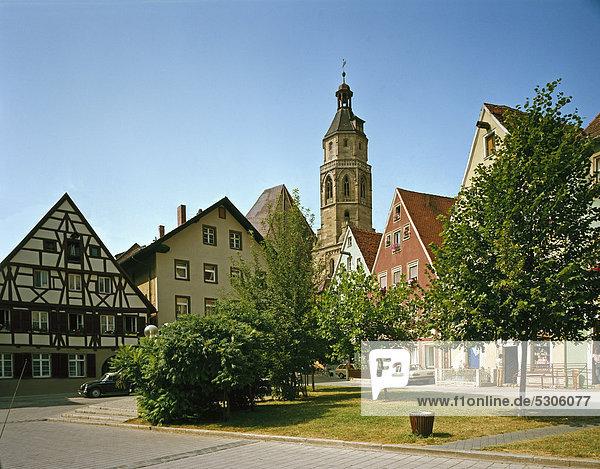 Evangelische Pfarrkirche St. Andreas  Weißenburg  Mittelfranken  Franken  Bayern  Deutschland  Europa