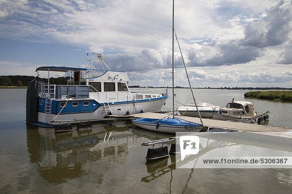 Europa sehen See Yacht Steg Ostsee Baltisches Meer Deutschland Mecklenburg-Vorpommern