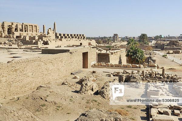 Karnak-Tempel  Luxor  Niltal  Ägypten  Afrika