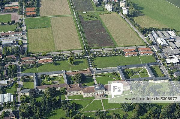 Aerial view  Hohenheim Palace and Hohenheim University  Plieningen  Baden-Wuerttemberg  Germany  Europe