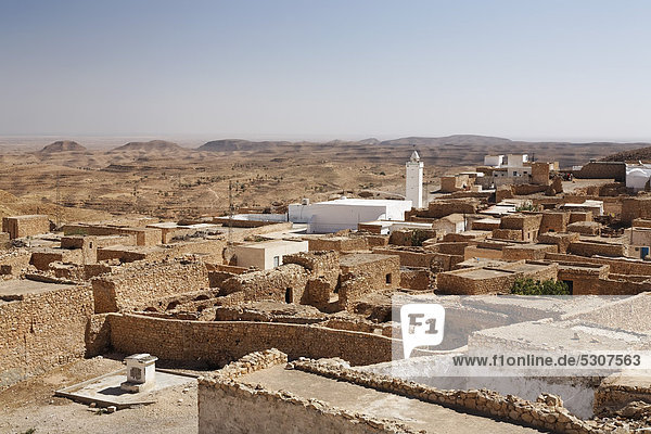 View of Toujane  Tunisia  Maghreb region  North Africa  Africa