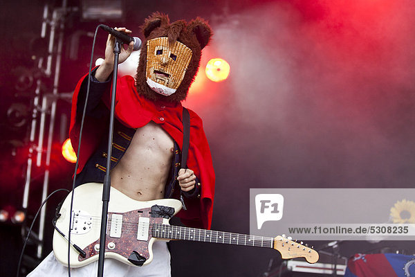 The German and international visual trash punk band Bonaparte live at the Heitere Open Air music festival in Zofingen  Switzerland  Europe
