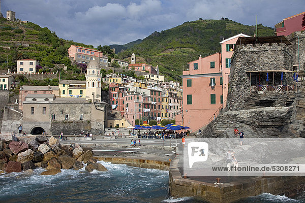 Nationalpark Europa UNESCO-Welterbe Cinque Terre Italien Ligurien Provinz La Spezia
