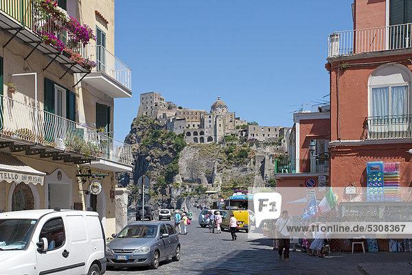 Europa Palast Schloß Schlösser Geschichte Castello Ortsteil Golf von Neapel Ischia Italien
