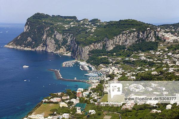Europa Capri Golf von Neapel Italien