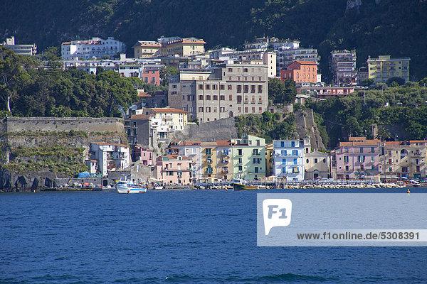 Europa Kampanien Golf von Neapel Italien Mittelmeer Sorrento