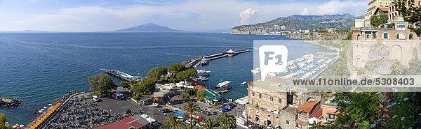 Europa Kampanien Golf von Neapel Italien Marina Grande Mittelmeer Sorrento
