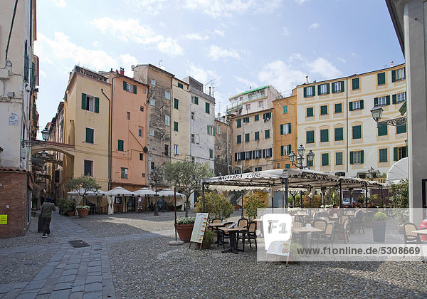 Hafen Küste Stadt Italien Ligurien Mittelmeer