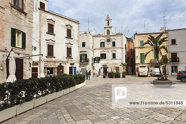 Europa Apulien Italien Piazza Vittorio Emanuele