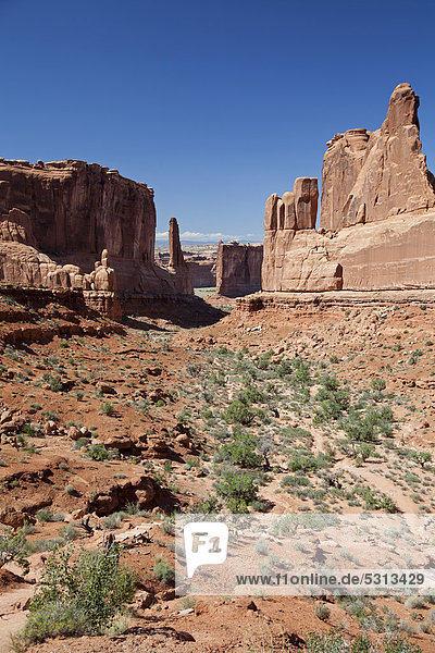 Park Avenue im Arches-Nationalpark  Moab  Utah  USA