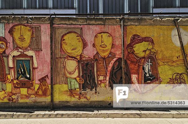 Graffiti bei der Theater-Halle 7  Gerolsteiner Ring  München  Bayern  Deutschland  Europa  ÖffentlicherGrund