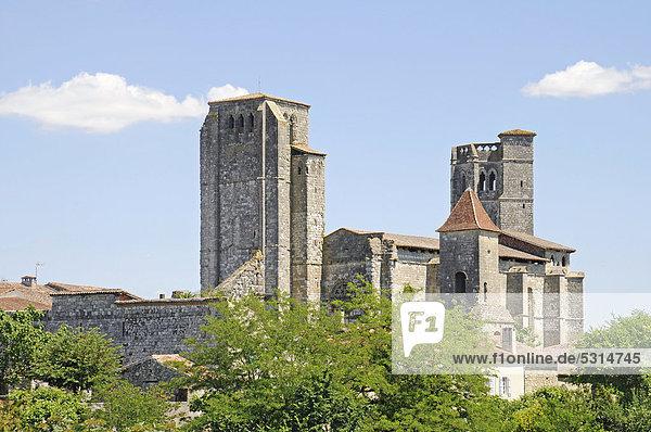 Collegiale Saint Pierre  Stiftskirche  französischer Jakobsweg  UNESCO Weltkulturerbe  Gemeinde La Romieu  Departement Gers  Midi-Pyrenees  Frankreich  Europa