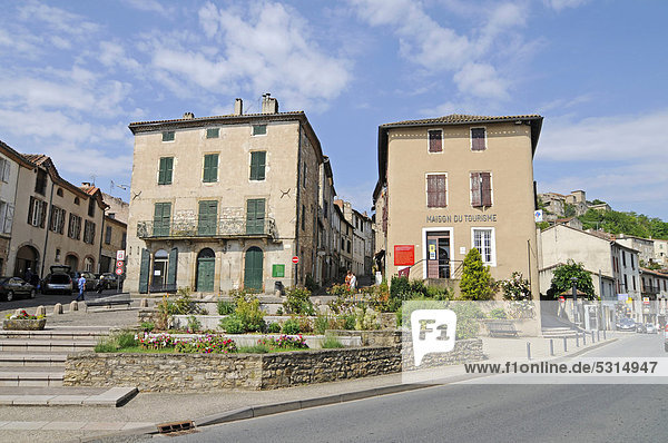 Touristeninformation  Gemeinde Cordes sur Ciel  Albi  Departement Tarn  Midi-Pyrenees  Frankreich  Europa