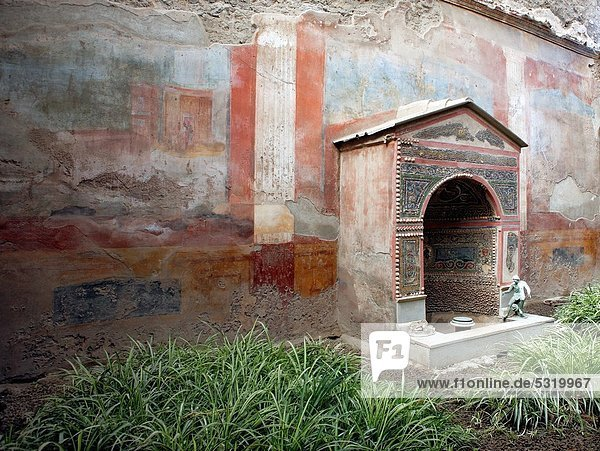 Großstadt Werbung Neapel Kampanien Italien römisch