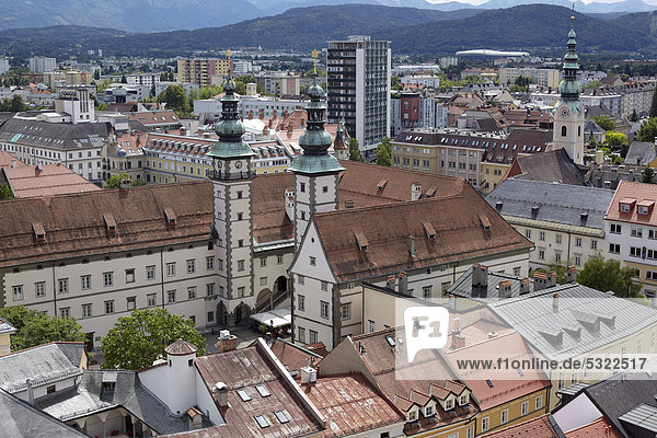 Landhaus building  seat of the Carinthian regional parliament  Klagenfurt  Carinthia  Austria  Europe